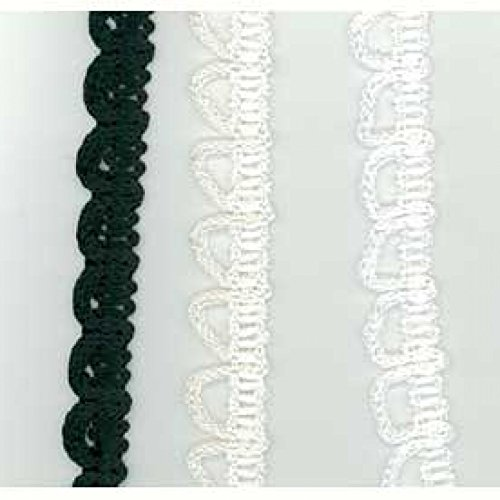 Generic Viscose bouton Looping-Noir - 13 mm x 25 m