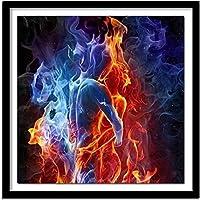 大人のための5Dダイヤモンド塗装キット氷と火のキス家の壁の装飾のためのフルドリルクリスタルラインストーン刺繡40X50CM11CT