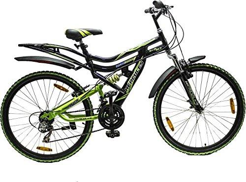 HERCULES TOP Gear CX-70 26X20 18 Speed Black/Green Steel Bike/Bicycle