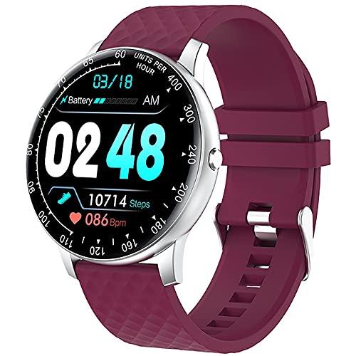 ZGZYL Smart Watch Ladies DIY Dial Dial Fitness Tracker Pedómetro con Presión Arterial/Oxígeno De Sangre/Monitor De Frecuencia Cardíaca para iOS Android Smart Watch,D