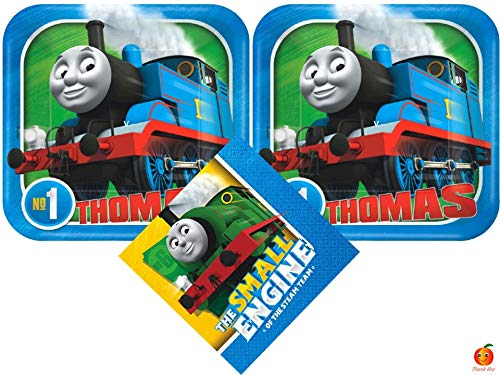 Thomas and Friends Cake Plates and Napkins Bundle for 16 Guests