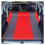 GZA Colchón De Automóviles SUV Holques Inflables para Adultos para Adultos Bebé De Bebé Viaje Universal Asiento Trasero Sofá Almohada para Al Aire Libre (Color : Double red5cm)