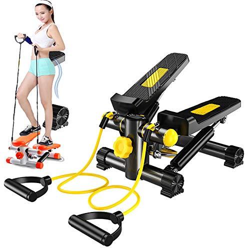 CLII Mini-Stepper für Bewegung, Treppensteiger Übungsmaschine mit Widerstand Bands LCD Display und Twisting Aktion für Office Indoor Sport