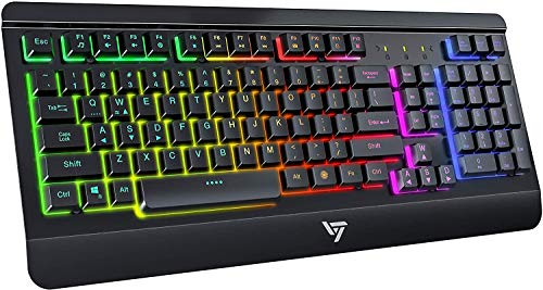 USB Gaming Keyboard, Wired Computer…