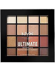 NYX Professional Makeup Ultimate Edit Petite Shadow Palette paleta 16 cieni do powiek o różnym wykończeniu, ciepłe neutralne i różowe beże, Warm Neutrals