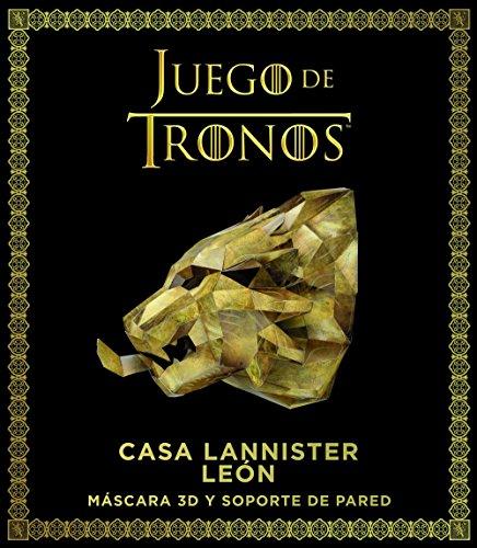 Juego de Tronos : Casa Lannister : león: Máscara 3D y soporte de pared (Series y Películas)