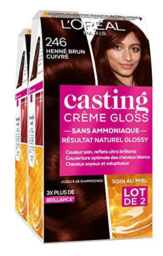 L'Oréal Paris Coloration Ton Sur Ton sans Ammoniaque 2.46 Henné Brun Cuivré - Lot de 2