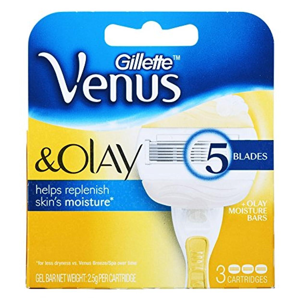 どんなときもコンサート想定するGillette Venus Olay Razor Blades カートリッジブレード 3 Pcs [並行輸入品]