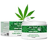 MO TULIP Hemp Oil Face Cream, Hyaluronic Acid Hydrating Relives Dry Skin, Anti-Aging, Anti Wrinkle, Relax & Soothing Skin and Boost Collagen (2oz)