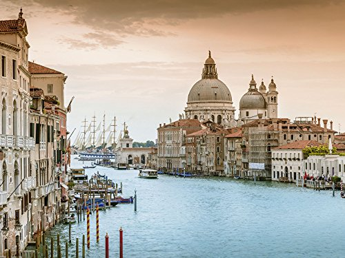 Artland Qualitätsbilder I Poster Kunstdruck Bilder 40 x 30 cm Städte Italien Venedig Foto Ocker B8AF Venedig Canal Grande