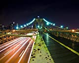 Lsping Puzzles 3D Adultos 500 Piezas Hora Punta Puente de Brooklyn Nueva York 52x38cm