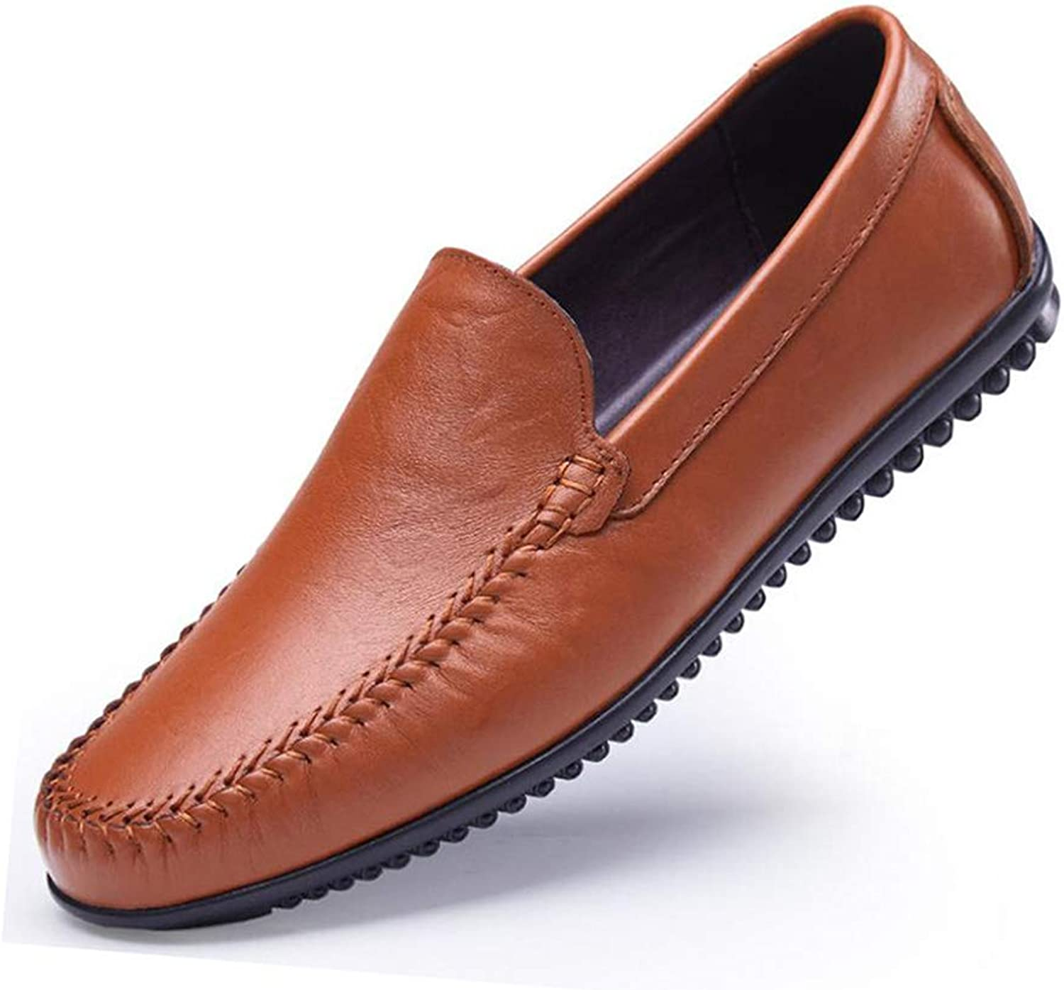 Men's Formal shoes,Casual Flat Loafers Fashion Slip On Driving shoes,Spring Fall Leather Lazy shoes ,Black, Brown