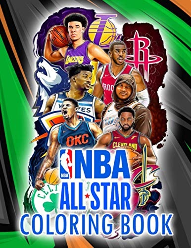 NBA Coloring Book: Great Gift For Adults, Children, Men, And Women To Reduce Stress, Increase Relaxation After School And Tiring Work