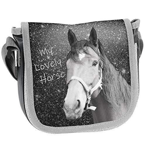PASO - PFERDE KINDER HANDTASCHE 17x15x4 cm - MY LOVELY HORSE - GRAU