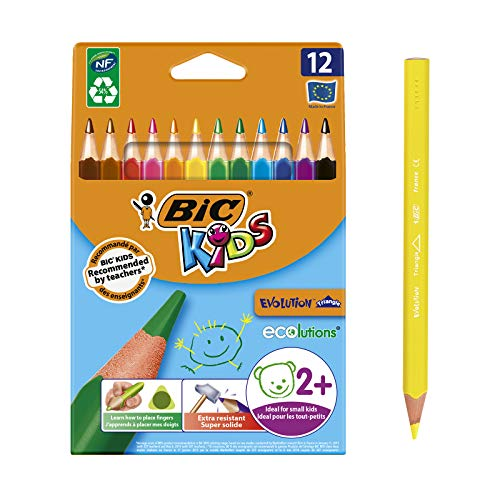BIC Kids Evolution Triangle ECOlutions Lápices colores