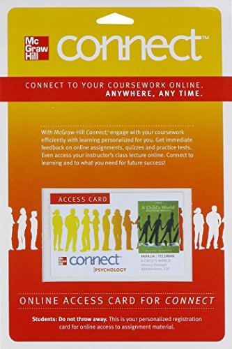 Connect Access Card for A Child's World: Infancy Through Adolescence