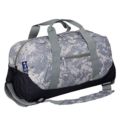 Wildkin Kids Overnighter Duffel Bag for Boys and Girls, Carry-On Size and Perfect for After-School Practice or Weekend Overnight Travel, Measures 18x9x9 Inches, BPA-Free (Digital Camo)