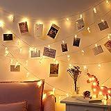 COOLBOTANG 写真飾りライトストリングライト 2M 20LED イルミネーションライト 写真クリップ 飾りライト 電池式 DIY吊り下げる飾りライト 誕生日 新年 クリスマス パーティー 結婚式 装飾ライト