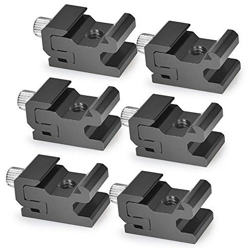 UTEBIT Blitzschuh Adapter 6 Stück mit 1/4 Zoll Stativanschluss Schuh Mount Adapter mit Feststellschraube Kalt Schuh für Stativ, Lichtstativ, Speedlite...