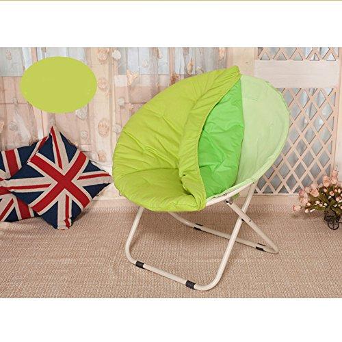 chaise Grand Paresseux inclinable de Radar de Soleil de Lune Pliante Ronde canapé Poids 300 kg Amovible Pliant, Couleur: Vert