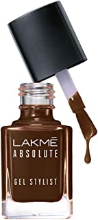 Lakme Absolute Gel Stylist Nail Color, Deep Taupe, 12 ml