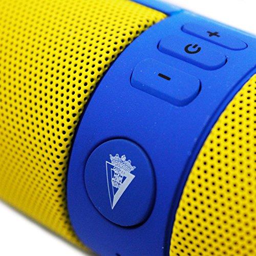 Ziu Smart Items Cádiz Club de Fútbol - Altavoz Bluetooth (Potencia de sonido 2x3W) color amarillo