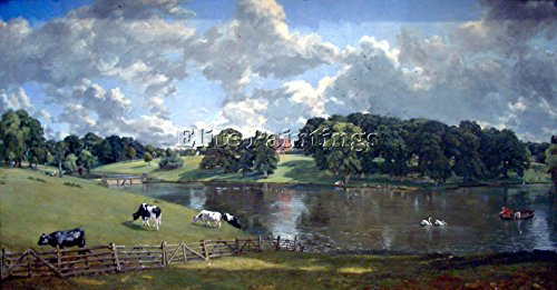 Elite-Paintings WIVENHOE Park BY Constable Artista Quadro Dipinto Olio Tela A Mano Maestri Arte 30x60cm Alta qualita