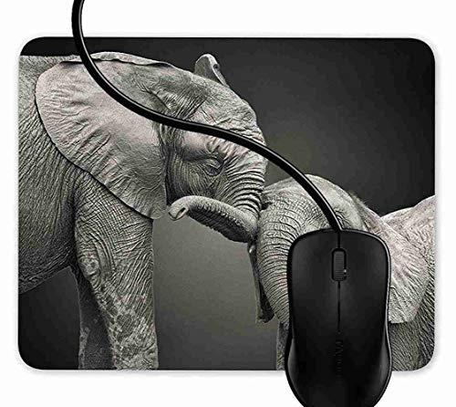 SGSKJ Alfombrilla de Ratón para Gaming de Alfombrilla de Cuadrado Mouse Pad Bebés Lindos Elefantes Soporte para Ordenador, PC y Portátil 1F2917