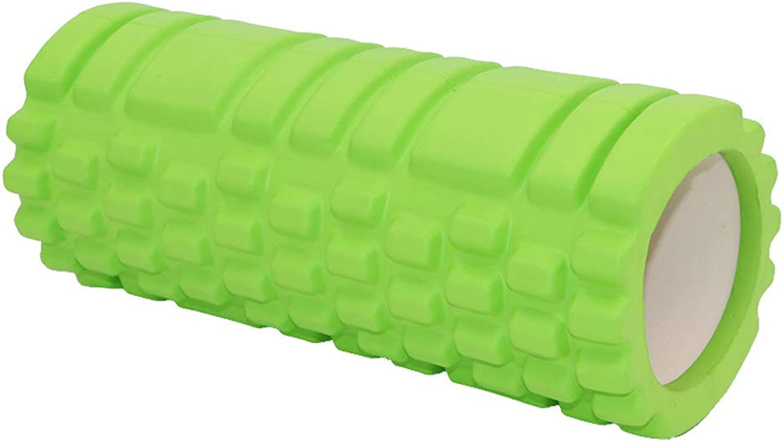 Yoga Foam Roller, EVA Foam Yoga Column Shaft Hollow Muscle Relaxation Roller Back Roller Muscle Roller Foam Roller Yoga Column,Green