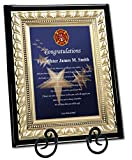 AllGiftFrames Firefighter Academy Graduation Gift Poetry Plaque Present Wood Wall or Desk Poem Fireman Congratulation Plaque with Gold Metal Designer Border Iron Easel