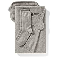 Amazon Brand - Lark & Ro Women's 100% Cashmere Soft Travel Set