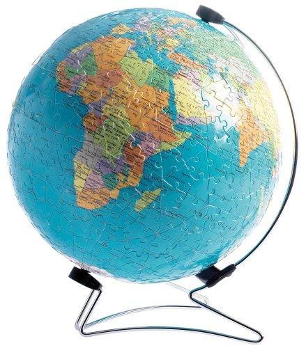 Ravensburger The World on V-Stand Globe, 540pc 3D Jigsaw Puzzle