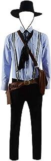 VOSTE Arthur Morgan Cosplay Costume Shirt Pants Full Set for Men