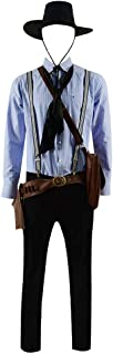 Arthur Morgan Cosplay Costume Shirt Pants Full Set for Men