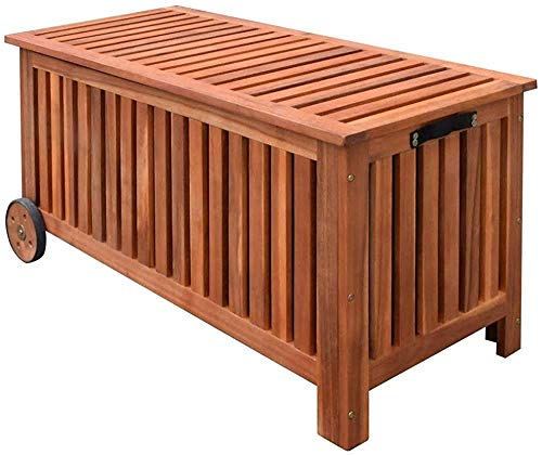 Terrasse Garten Aufbewahrungsbox Aufbewahrungsbox 118x52x58 cm,Brown