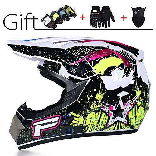 ACC Motorhelmset voor volwassenen, met goggles handschoenen, motorfiets, terreinbotsingshelm, beschermende kleding