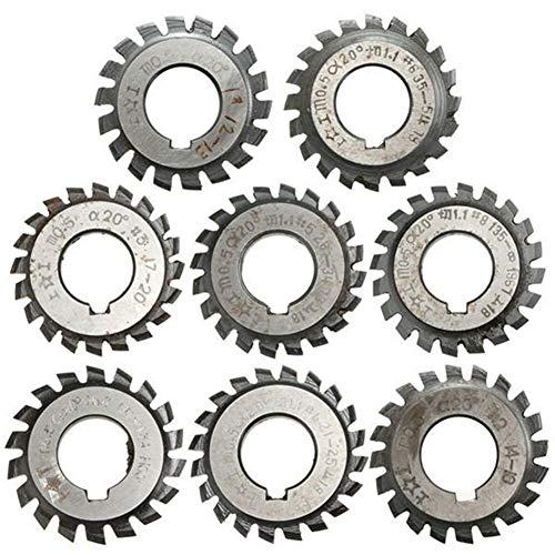 Schneiden Kreissägeblatt # 1-8 HSS Evolventenrades Fräser PA20-Modul 0.5 Bohrung 16 mm (Size : #3)