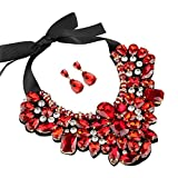Statement Necklace Costume Jewelry Sets for Women with Earrings by Holylove