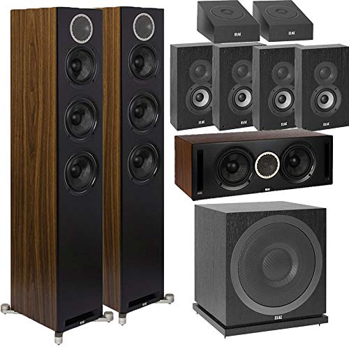 Find Cheap ELAC Debut Reference DFR52 9.1 Dolby Atmos Home Theater System with On-Wall Surrounds - B...