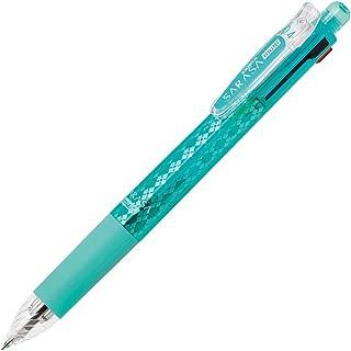 ゼブラ 多機能ペン 4色+シャープ サラサマルチ 0.4 ブルーグリーン P-J4SAS11-BG