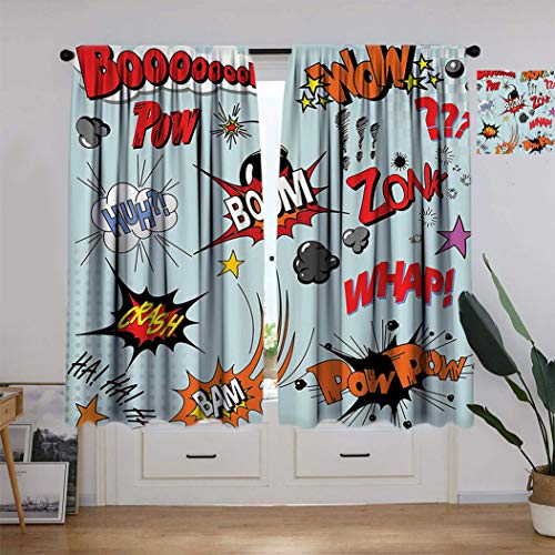 Cortinas opacas de decoración exótica, bambú Nature Series Foggy Rainforest Follage Botanical Wild Animal Night Mystic Cortina para ventana de sala de estar, 304 cm de ancho x 213 cm de largo