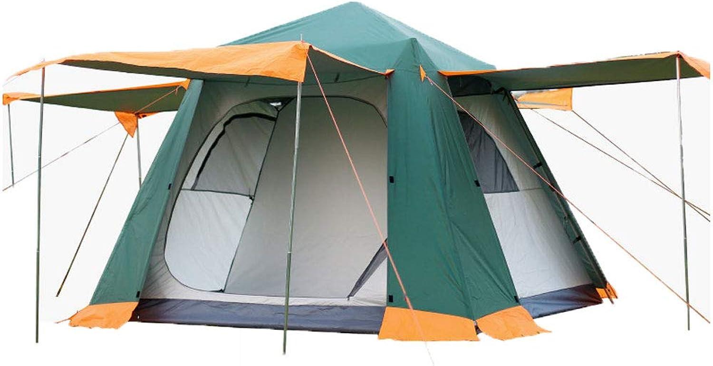 WWW Leichtes Backpacking-Zelt für 4-6 Personen Winddichtes Campingzelt Markisen-Familienzelt Zwei Türen