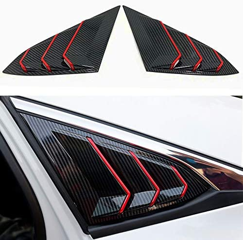 XITER 2PCS ABS Carbon Fibre Racing Style ABS Rear Side Window Louvers Air Vent Scoop Shades product image
