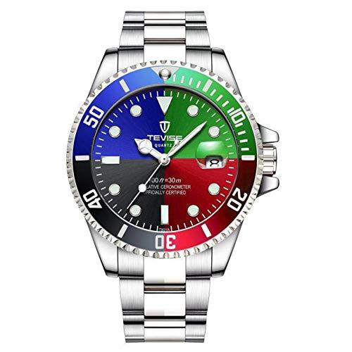 JTTM Reloj para Hombre Moda Automático Analógico De Cuarzo Reloj De Pulsera para Hombre Acero Inoxidable Deportivo Impermeable con Fecha Reloj De Pulsera,Colorful Four Colors