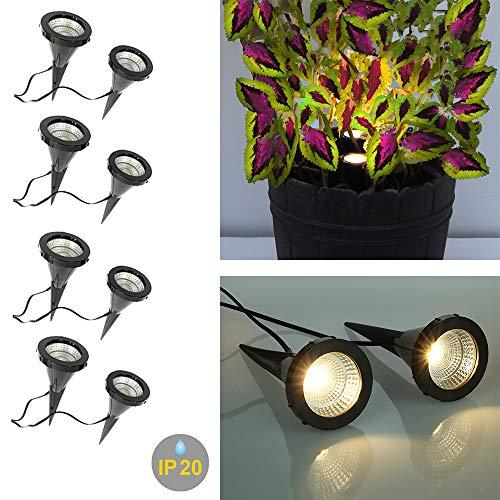 4 x 2 LED-Pflanzen-Strahler