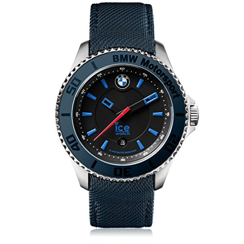 Ice-Watch - BMW Motorsport (steel) Dark & Light BE - Reloj blu para Hombre con Correa de cuero - 001117 (Large)