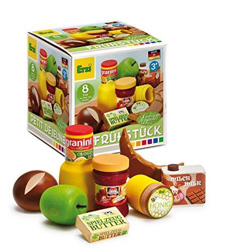 Erzi Spielzeug-Set, Supermarkt-Sortiment, Frühstück-Set