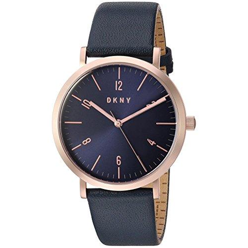 DKNY Damen Analog Quarz Uhr mit Leder Armband NY2614