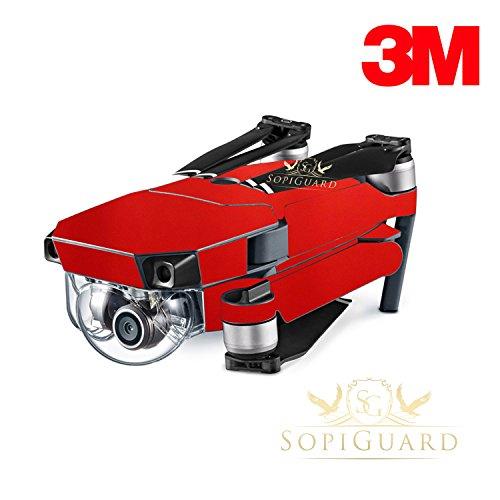 Price comparison product image SopiGuard 3M Gloss Dragon Fire Red Precision Edge-to-Edge Coverage Vinyl Skin Controller Battery Wrap for DJI Mavic Pro