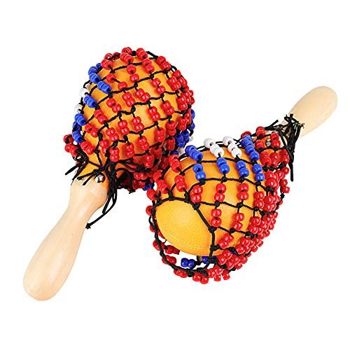LIZHOUMIL 1 par portátil tamaño bebé música juguetes niños arena martillo educación temprana herramienta sonajero instrumento musical color